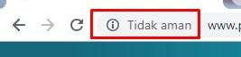 URL website/blog tidak aman